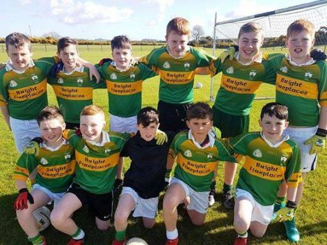 St Joseph's pupils involved with Bright U-12's - March 2017