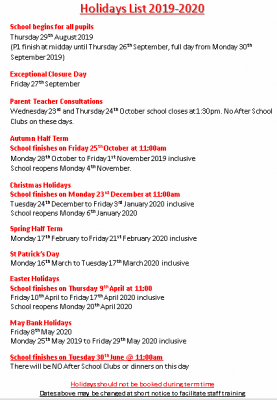 Christmas Lists For 2019.School Holiday List 2019 20